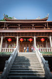 Traditional Chinese buliding of nanputuo temple Stock Photos
