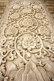 Traditional chinese carved pattern on the marble Royalty Free Stock Photos