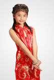 Traditional chinese cheongsam dress Royalty Free Stock Images