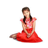 Traditional chinese cheongsam dress Stock Photography