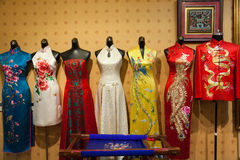 Traditional Chinese cheongsam store Stock Photo