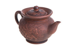 Traditional Chinese clay teapot Royalty Free Stock Image