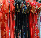 Traditional Chinese clothing in a shop royalty free stock photography