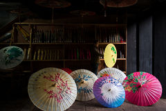 Traditional chinese colour oiled paper umbrella Stock Image
