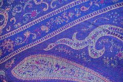 Traditional Chinese colourful cloth texture pattern background Royalty Free Stock Photo