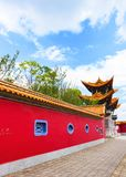 Traditional Chinese concept: ancient Chinese architecture royalty free stock photos