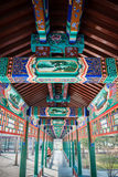 Traditional Chinese corridor with classical pattern and design Stock Photos