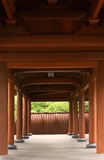 Traditional Chinese corridor made by wood Royalty Free Stock Photo