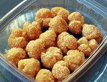 Traditional Chinese deep fried sesame balls. Some traditional Chinese deep fried sesame balls Royalty Free Stock Photos