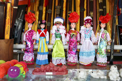 Traditional Chinese dolls royalty free stock photography