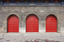 Traditional Chinese Door. Of shandong taishan Stock Photos