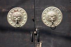 Traditional Chinese Door. Of jinan shandong china Royalty Free Stock Photo