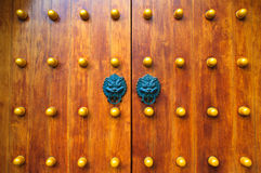 Traditional Chinese door Stock Photography