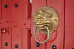 Traditional chinese door handle Stock Photos