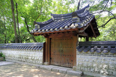 Traditional chinese door and small walls Royalty Free Stock Images