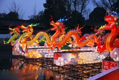 Traditional Chinese dragon lanterns Stock Photography