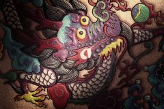 Traditional Chinese dragon painting Stock Photos