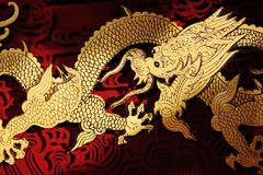 Traditional Chinese dragon painting Royalty Free Stock Photos