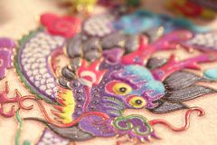 Traditional Chinese dragon painting Royalty Free Stock Photo