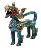 Traditional Chinese Dragon. Statue  on white background Royalty Free Stock Image
