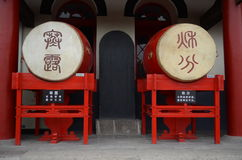 Traditional Chinese drums Stock Photo