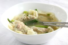 Traditional Chinese dumpling soup Stock Images