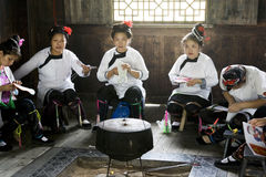 Traditional Chinese Ethnic Knitting Stock Photography