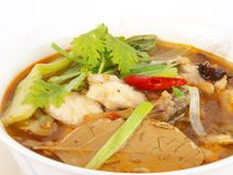 Traditional Chinese Fish Soup Stock Image