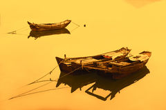 Traditional Chinese fishing boats Stock Photos