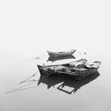 Traditional Chinese fishing boats out of wood Royalty Free Stock Images