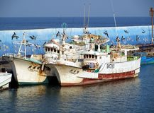 Traditional Chinese Fishing Boats Royalty Free Stock Images