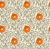 Traditional Chinese floral seamless  pattern for your design. Modern fabric design pattern. Background. Vector Royalty Free Stock Image