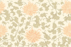 Traditional Chinese floral seamless  pattern for your design. Modern fabric design pattern. Background. Vector. Royalty Free Stock Image