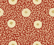 Traditional Chinese floral seamless  pattern for your design. Modern fabric design pattern. Background. Vector. Stock Images