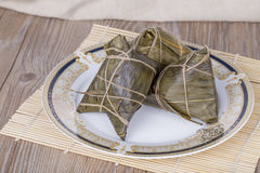 Traditional Chinese food - rice dumplings Stock Photo
