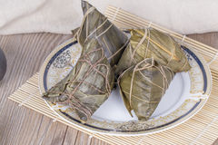 Traditional Chinese food - rice dumplings Royalty Free Stock Photography
