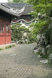 Traditional chinese garden. Pathway in summertime Stock Photo