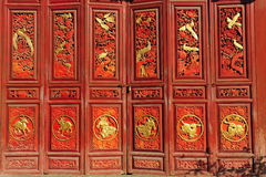 Traditional Chinese Gate. Traditional Chinese decorative gate at a historical house Stock Photos