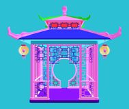 Traditional Chinese Gazebo Garden Pavilion Vector Royalty Free Stock Images