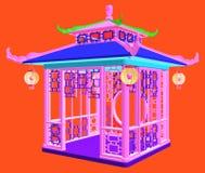 Traditional Chinese Gazebo Garden Pavilion Vector Stock Photography