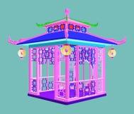Traditional Chinese Gazebo Garden Pavilion Vector Stock Photo