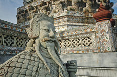 Traditional Chinese giant statue in Bangkok temple Royalty Free Stock Photography