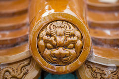 Traditional Chinese glazed roof tiles Stock Photo
