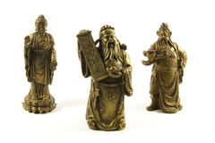 Traditional Chinese Gods and Deities Royalty Free Stock Images