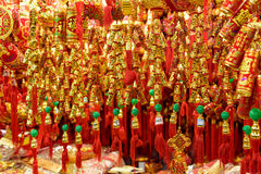 Traditional Chinese golden decorations Royalty Free Stock Image