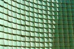 Traditional chinese green glazed tile, Curve wall Stock Photo