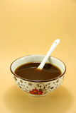 Traditional Chinese Herb. A bowl of Chinese medicine royalty free stock images