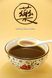 Traditional Chinese Herb. A bowl of Chinese medicine stock photos