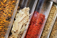 Traditional Chinese herbal medicines Stock Images