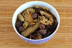 Traditional Chinese herbal tea soup (Medicinal her Royalty Free Stock Image